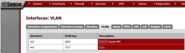 pfSense VLAN Interface